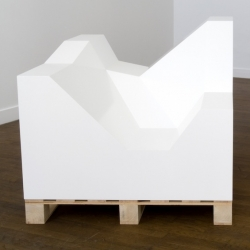 'Broken White Cube' armchair by French artist and architect Didier Faustino.