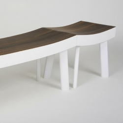 'Ipe' modular bench and stool by Luca Nichetto for Mabeo.