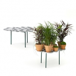 'Green Pads' by Luca Nichetto is a shelf for storing plants and flower pots.