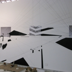 Brazilian artist Flavio Samelo shows that the product is the process for this installation in Goiania.