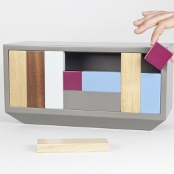'Analogue Box' is a wooden puzzle secret box by Dean Brown for Fabrica and Granville Gallery.