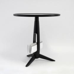 'Little Ben' wooden tea table with magazine rack by Studio Dreimann
