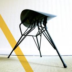 'Saut de puce' stool by Benjamin Crilout is inspired by insects and industrial aesthetic.