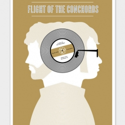 Really cool Flight of the Conchords poster designed by the small stakes