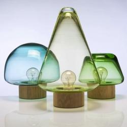 'Skog lamps' are tree-shaped lights by Caroline Olsson.