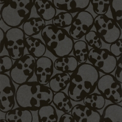 LOVE the new flock wallpaper collection by Barbara Hulanicki for Graham & Brown.  The skull pattern is subtle at first and almost shocking once you realize what it is.