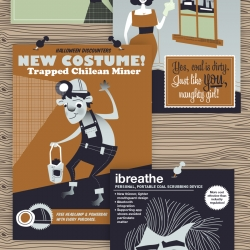 Infographic portraying the possible rejected ad campaigns of the coal industry.