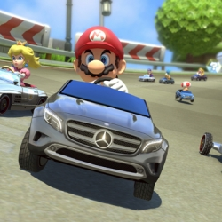 Mercedes Benz introduces for the first time real vehicles in Nintendo's Wii U game Mario Kart 8.