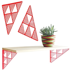 Bend Good's Triangle Brackets for a fun pop of color with your shelf!