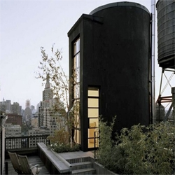 Brian Messana is the designer of the tank house renovated from a loft in New York.