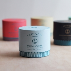 Artifact Skin Co. Artifact Masque. Wonderful packaging  for their line of natural facial masques.