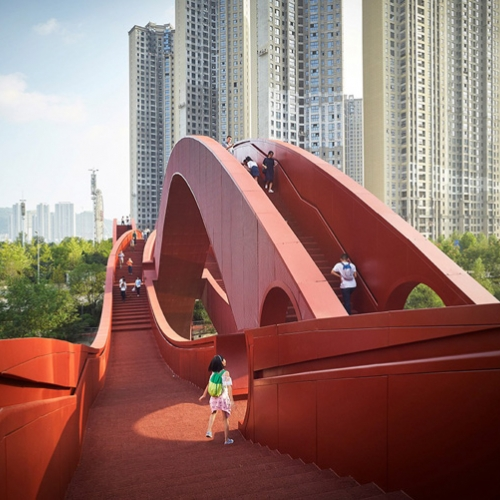NEXT Architects has completed this undulating footbridge in Changsha, China, dubbed Lucky Knot.