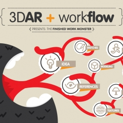 Julián Dorado's work for the institutional brochure of 3Dar Visual Effect Studio.