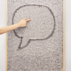 Dedo message board - It provides an easy, intuitive, and fun way to express ideas, leave messages and play, just by simply dragging your finger trough the fur you leave a trail, a drawing...