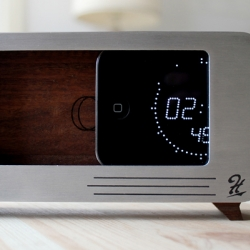 The cdock by Hatchet Goods combines an iPhone dock and clock. Born out of necessity, many a prototype and some late nights, the solution has arrived.  Now the mobile buddy has replaced the watch, and the alarm clock.