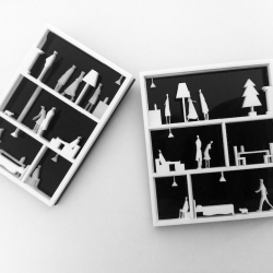 Melbourne architects Michael Ong and Sarah Crowley make jewellery that you'd want to live in. Their brooches are inspired by the detail of their own apartments.