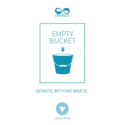 Brazilian agency NBS and the NGO OndAzul have created the Empty Bucket movement. The project stimulates donations, although avoiding waste without dumping any drop of water. Great idea and cause, beautiful visual identity too!