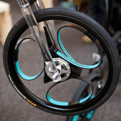 Loopwheels are brand-new 'pat pending' bicycle wheels that have integral suspension within the wheel.