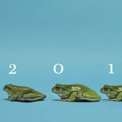 Hoppy New Year! Fun Tree Frog piece - from 0123 to 2013!