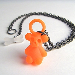 Jun Konishi skull-teddy pendants