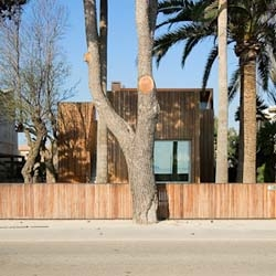 Nice wooden house surrounded by trees, in Spain. An ideal place to live and work