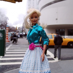 Barbie is set to take over New York next week with a big 100 designer fashion show and full windows at Bloomingdales.