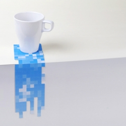 Awesome  pixel drink coasters.