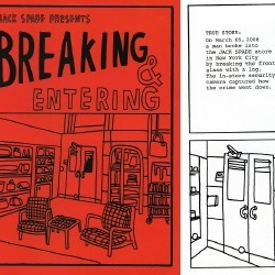 Jack Spade turned a break-in at their NYC Greene Street store into a comic book.