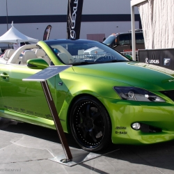 Lexus is taking a page out of Scion's playbook by starting to embrace the tuning and customization culture. At SEMA, Lexus showcased four versions of their new IS C convertible including one modified in-house using the recently introduced F-Sports line.