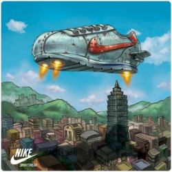 Nike has their legendary Cortez footwear new look in creative illustration creativeness.   Imagination rules in footwear games!
