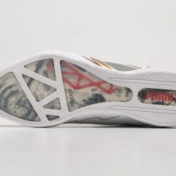 Puma and Ducati teamed up for a new racing sneaker. The Panigale II, styled after their Knight campaign, which features a racing seat pattern, transparent sole with a Ducati motorcycle and engine structure, highlighted in red.