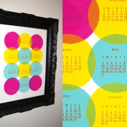 Ring in the New Year with SuperKonductor's Lotsa Dots Calendar! This unique calendar is screenprinted by hand in a limited quantity on 100# French Paper. $25 (shipping incl. in the U.S.)