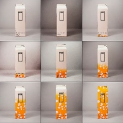 Yang Ko has came up with a concept to know if the milk is really good or has expired. Over time, the white box becomes orange you know the milk has expired!