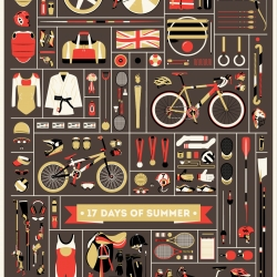 17 Days Of Summer poster to celebrate and commemorate the 2012 Olympic Games. By Jordan Cheung.