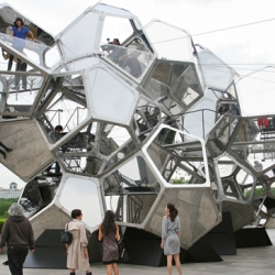 "Tomas Saraceno's ""Cloud City"" at the Metropolitan Museum of Art further explores his ""Air-Port-City"" project in dream-like inhabitable spaces."