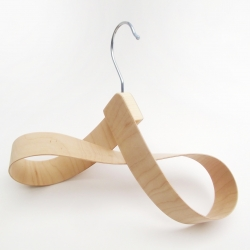 Hwoarang Hanger, an accessories hanger made from bent plywood by Dan Hoolahan