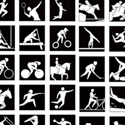 The London 2012 Olympics pictograms were launched today