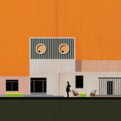 'ARCHICINE' - series of illustrations by Federico Babina representing iconic film architecture.