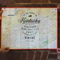 New vintage Kentucky highway map prints by Jeremy Booth.