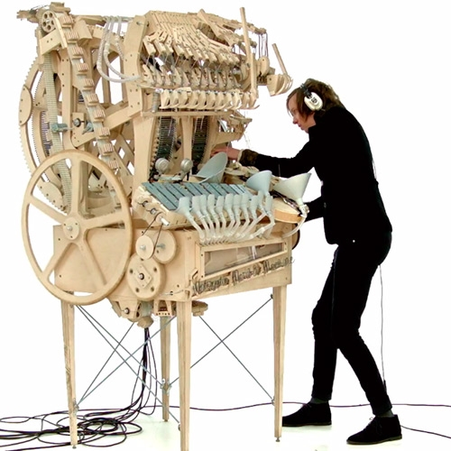 Martin Molin, a musician of a Swedish band Wintergatan, has designed and assembled a new musical instrument that he titled 'Marble Machine'.