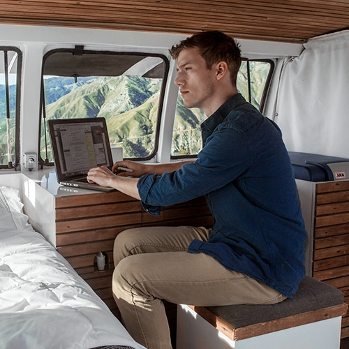 """The Vanual - """"From beginning to end, this guide will walk you through the DIY process of building a sweet converted campervan.""""  Project of American filmmaker Zach Both who turned his old rusty Chevy Express into a functional mobile home."""