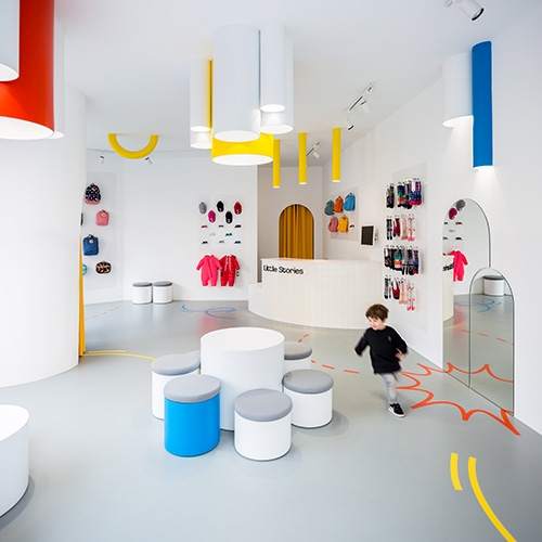 "Designed by CLAP Studio, ""Little Stories"" is a bright and colorful kids concept store in Valencia, Spain."