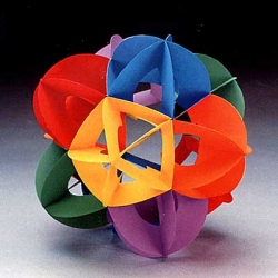 "Ikoso Omniball Atom -  Create a ""bumpy"" atom using paper and glue. Kit comes flat packed."
