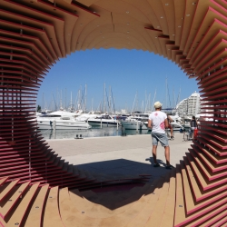 The PortHole: Anamorphic Pavilion for the Living Architecture Festival by TOMA Architects.
