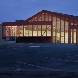 Skatepark and Cultural Center in a former factory in Calais by French team Bang Architects.