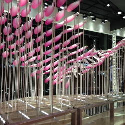Topshop Bloom by NEON - A large scale kinetic installation based at Tosphop's Flagship store on Oxford Street for Xmas 2013