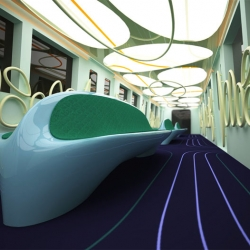 Amazing 3D model for a metro car by Spain-based Bulgarian designer Aleksandar Dimitrov