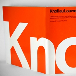 Knoll Exhibition Catalog — Paris, 1972. Wonderful bold Modern design and photography by legendaries Massimo Vignelli and Herbert Matter.
