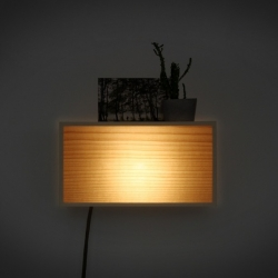 'Kibako' light inspired by traditional japanese lights and designed by Louis Maucout and Mathias Astua.