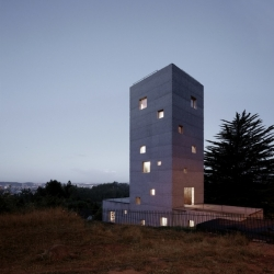 'Cien House' in Concepcion, Chile by Pezo von Ellrichshausen Architects.